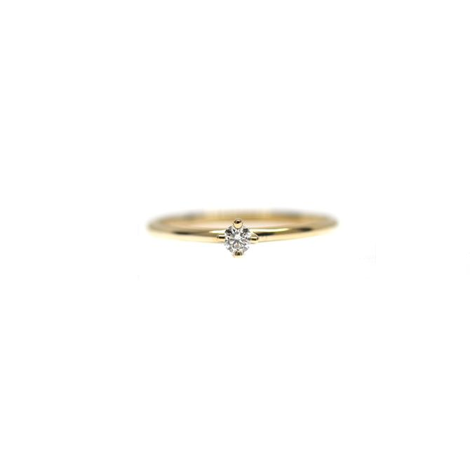 Teeny Tiny Prong Diamond Ring