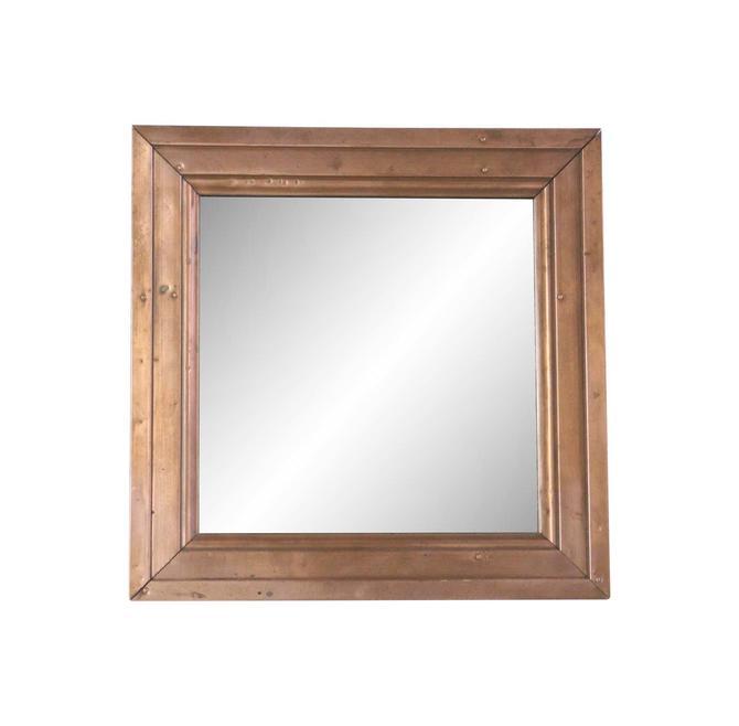 Handmade 18 in. Square Copper Mirror
