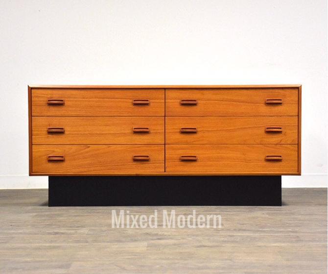 Danish Modern Style Teak Dresser by mixedmodern1