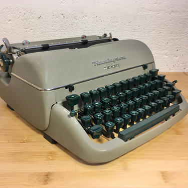 Pristine 1955 Remington Quiet-Riter Portable Typewriter, Case with Key, New Ribbon, Owner's Manual by Deco2Go