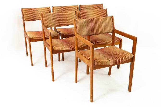 D-Scan Danish Mid Century Teak Dining Chairs - Set of 6 by ModernHill