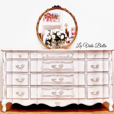 French Country Console, Buffet, Sideboard, Dresser, Entryway Piece, White, Rustic, Farmhouse, Nursery. by LaVidaBellaDesign