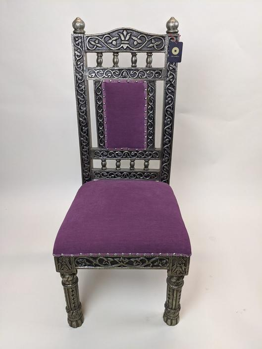 Jaipur India Pewter Plated Chair