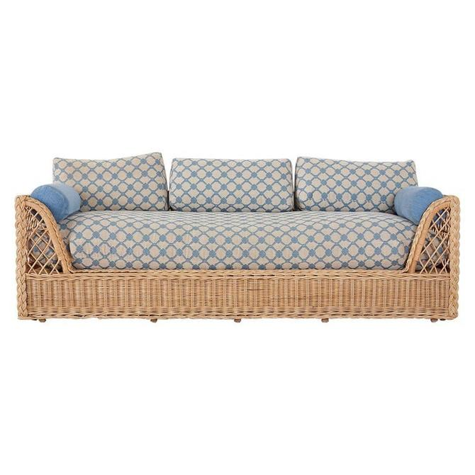 McGuire Organic Modern Rattan and Wicker Daybed Sofa by ErinLaneEstate