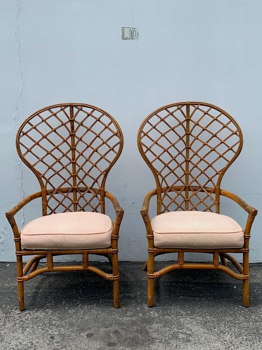 Admirable Pair Of Chairs Bamboo Set Armchair Bohemian Boho Chic Cjindustries Chair Design For Home Cjindustriesco