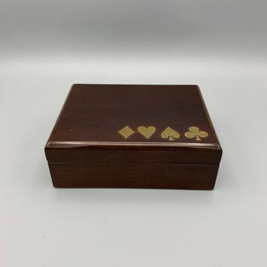 Vintage two deck card box by CandCmodern