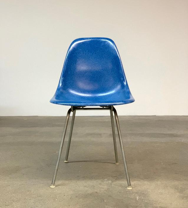 Eames Blue Fiberglass DSX Chair Herman Miller by midcenTree