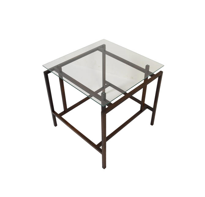 Henning Norgaard for Komfort Side Table Rosewood and Glass side table by HearthsideHome