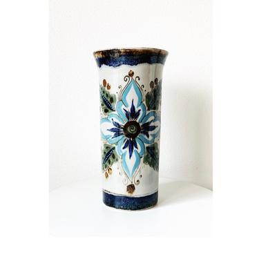 Vintage Mexican Ceramic Ken Edwards Tonala Vase by SabineVintageHome