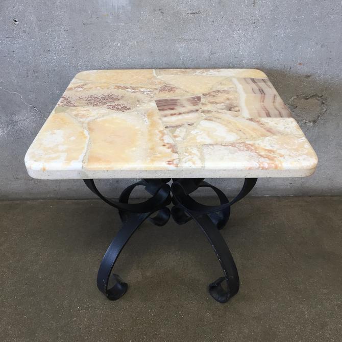Vintage Mosaic Rock Side Table