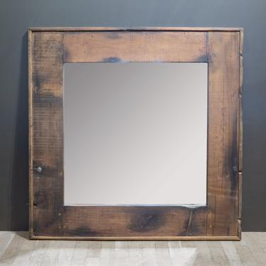 Timothy Oulton Axel MK3 Reclaimed Wood Square Mirror