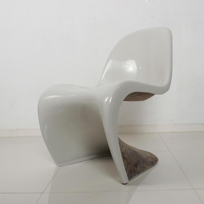 Vintage Modern Fiberglass Verner Panton S Chair for Herman Miller by AMBIANIC