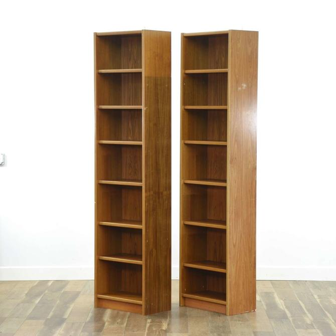 Pair Of Danish Modern Tall Bookcases