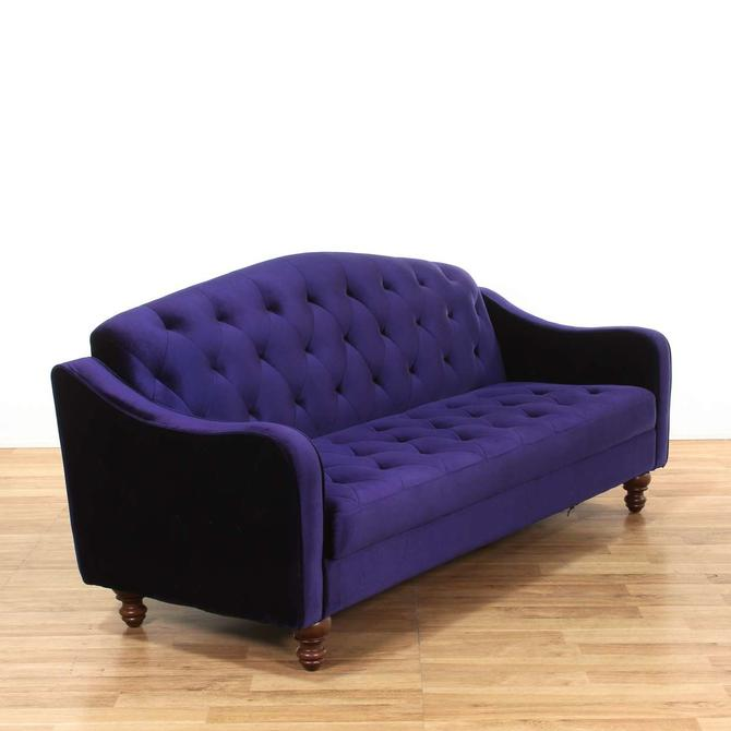Violet Tufted Velvet Sleeper Sofa Sofabed From Loveseat Of Los