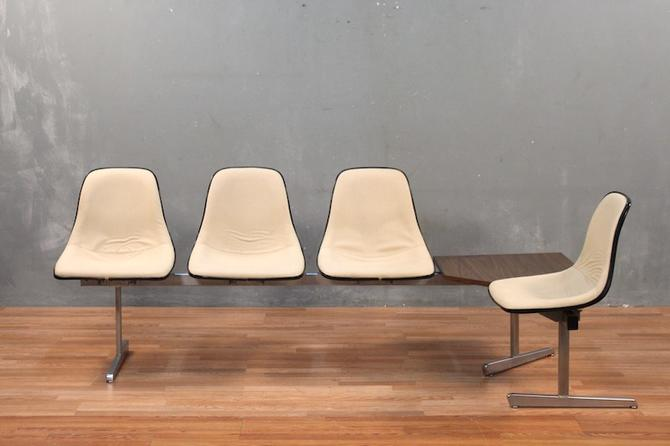 Industrial Mid Century 4-Seat L-Bench – ONLINE ONLY