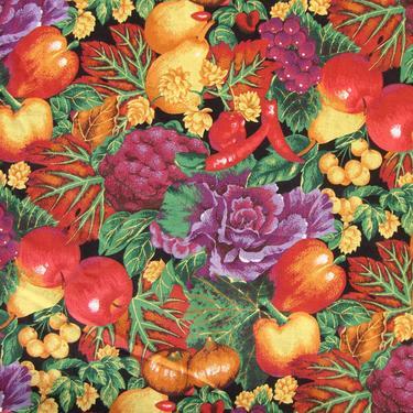 Vintage Fruit & Vegetables Fabric Springs Industries 2 Yds by MetroRetroVintage