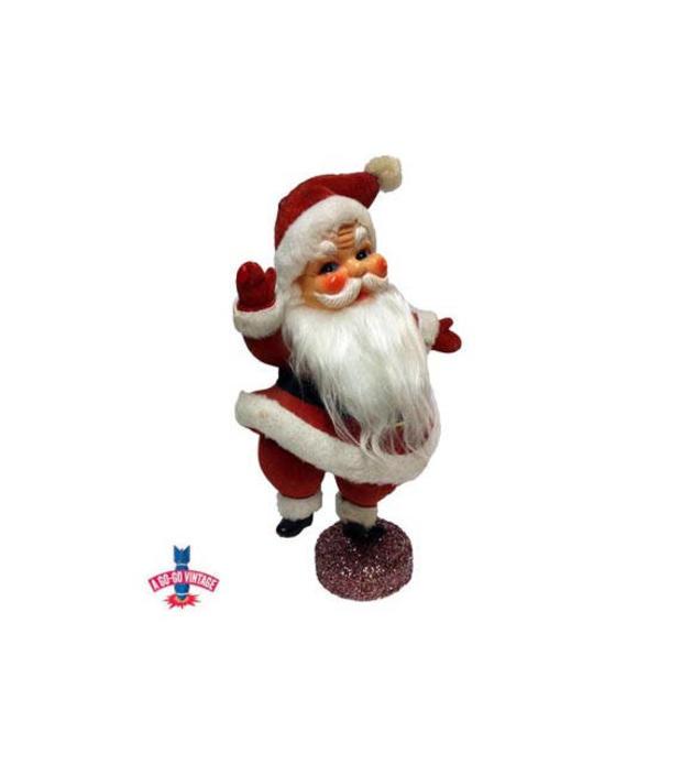 Vintage Santa Claus, 1950s Mid Century Christmas Kris Kringle Decor by AGoGoVintage