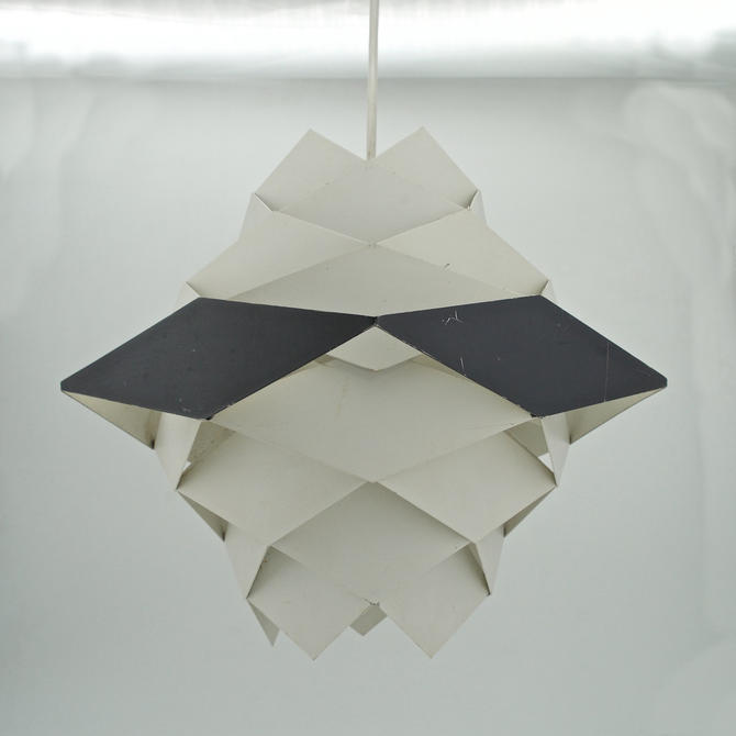 Danish Metal Geometric Lamp Mid-Century Vintage Modern Poulsen Symfoni Rhomboid Lyfa Denmark by BrainWashington