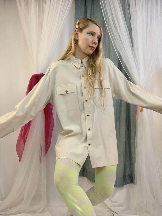 Silk + cotton Micheal Kors button down by shopjournal