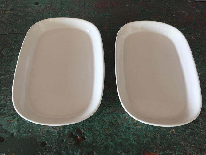 Vintage TWA First Class Meal Service Plates - Set of 2 by ModandOzzie