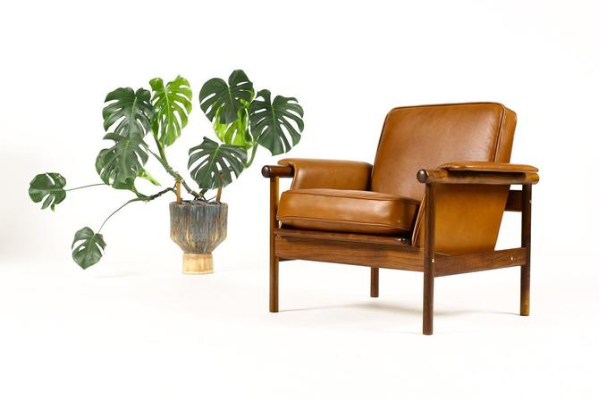 Marvelous Danish Modern Mid Century Walnut Lounge Chair Borge Gamerscity Chair Design For Home Gamerscityorg