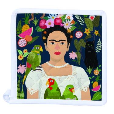 Frida Kahlo and her Parrots Pot Holder