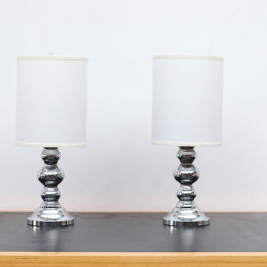 Pair of Mid-Century Mercury Glass Table Lamps
