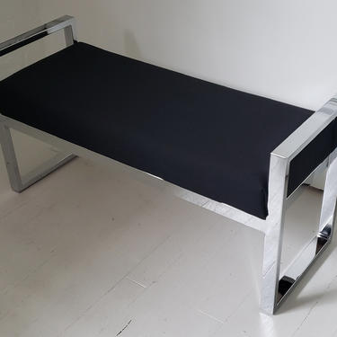 86225650 - CHR.  BLK BENCH SEAT -  - FURNITURE - BENCH