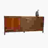 Mid-Sized Mid Century Walnut Credenza \/ Sideboard