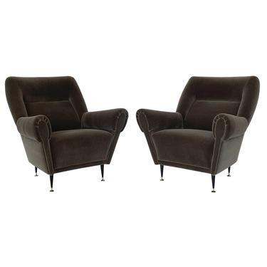 Pair Gigi Radice Mohair Lounge Chairs