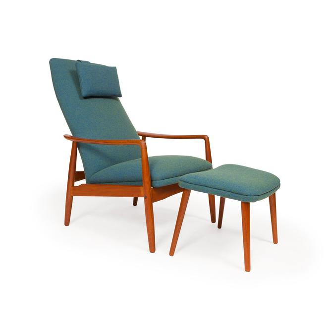 Danish Mid-Century Svend Langkilde High Back Lounge Chair by MCMSanFrancisco