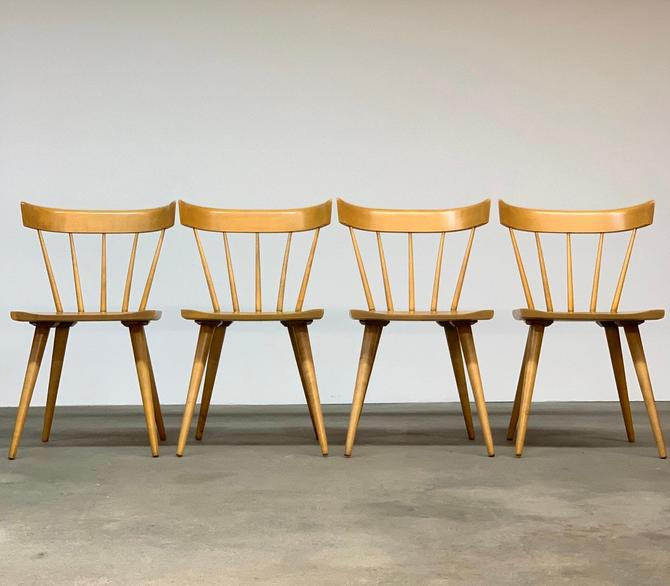 Paul McCobb Spindle Chairs Set (4) by midcenTree