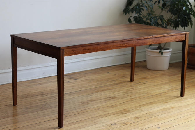 Danish Mid Century Modern Parson Style Rosewood Dining Table by SharkGravy