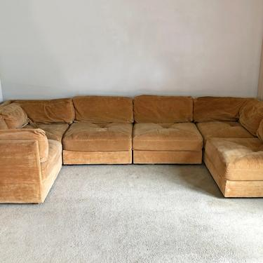 vintage mid century Selig modular tuxedo sofa couch sectional by TripodModern
