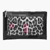 Zimmermann - Black Leather & Leopard Print Clutch