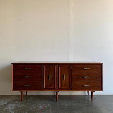 Nine drawer dresser with brass hardware by VintageOnPoint