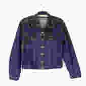 Cairn Jacket — vintage jean jacket / dark wash boxy cotton denim jacket / women's 90s grunge denim jacket / classic rocker blue jean jacket by fieldery