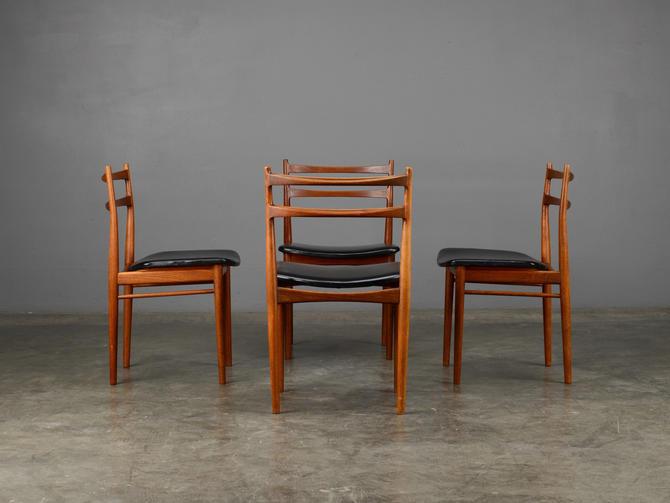 4 Mid Century Dining Chairs Rosengren Hansen Teak Danish Modern by MadsenModern