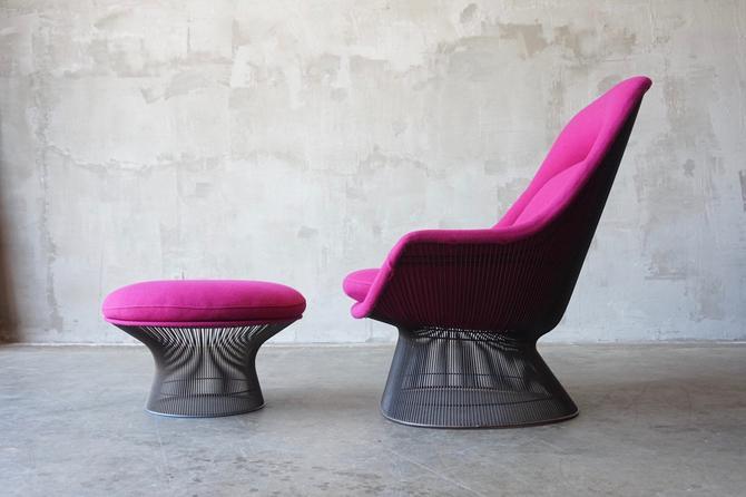 Warren Platner Brozne Lounge & Ottoman by FandFVintage