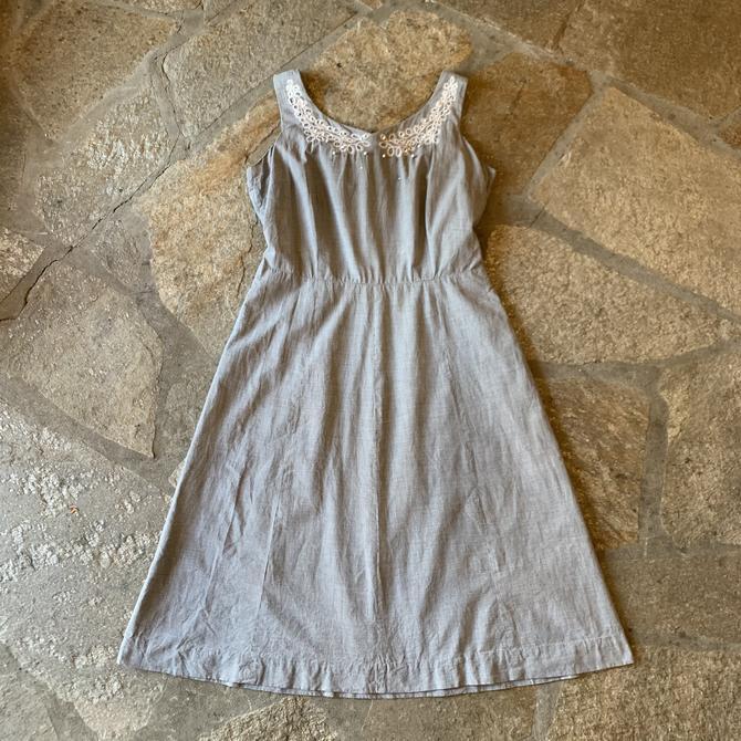 1950s Black & White Checkered Dress
