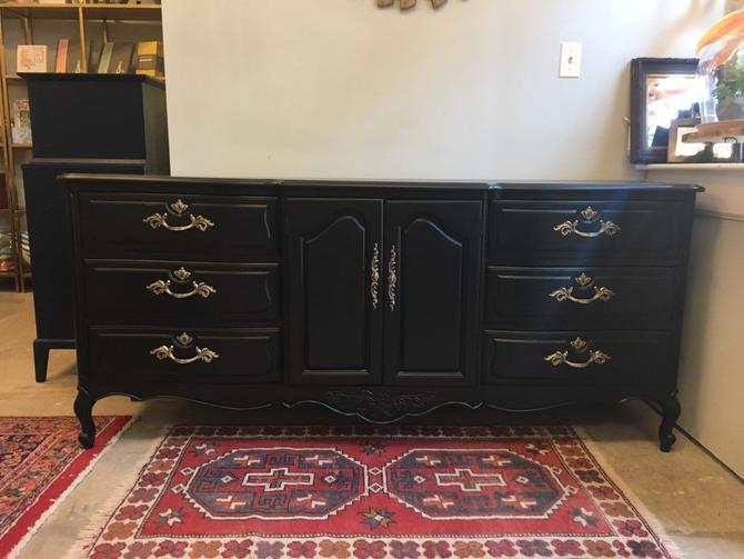 Marco- Long Black Provincial Dresser by StylishPatina