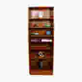 Slim & Tall Danish Teak Adjustable Bookcase by Hundevad