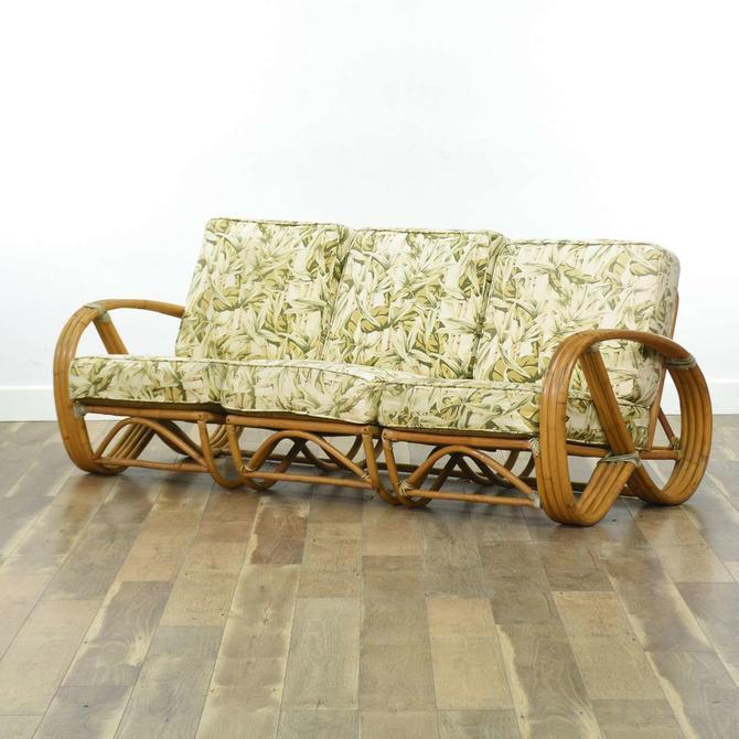 Calfran Rattan Vintage Tiki Style Sofa