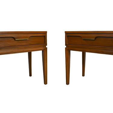 Walnut Nightstands Made by Basic Witz Mid Century Modern by HearthsideHome