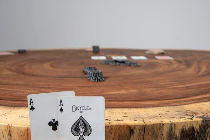 Live Edge Poker Table by KirkpatrickDesigns