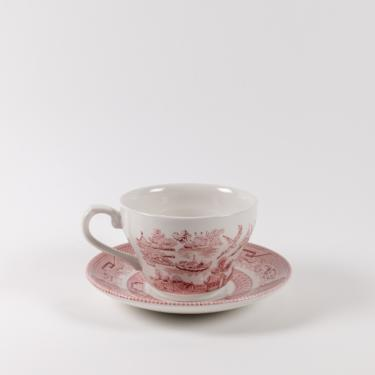 Primrose Hill Teacup + Saucer Set 12pc | Cranberry