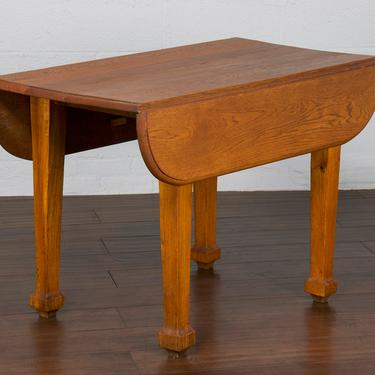 Antique Country French Farmhouse Oak Drop Leaf Dining Table by StandOutSpaces