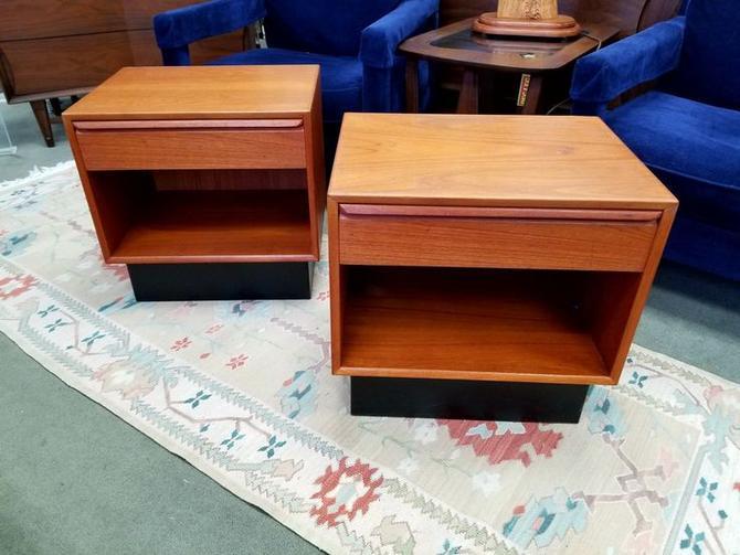 Pair of danish Modern teak nightstands by Westnofa