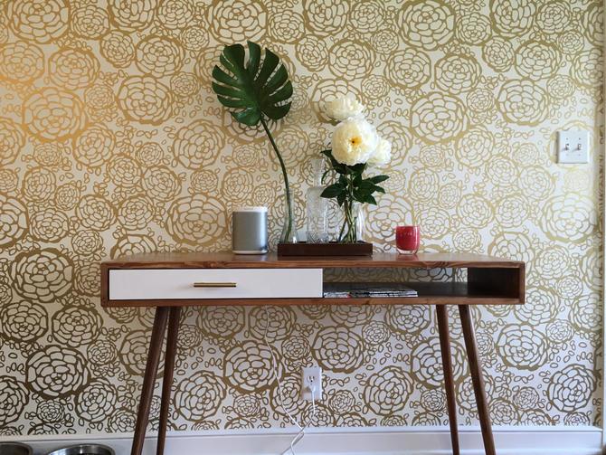 "Mid Century Modern Desk with Drawer 48"" by OrWaDesigns"
