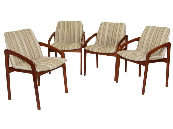 Set Of 4 Danish Modern Chairs By Kai Kristiansen by RetroPassion21